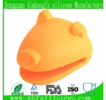 silicone oven glove, pig shaped silicone mitt