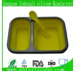 2 parts silicone lunch box