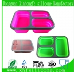 3 parts silicone lunch box