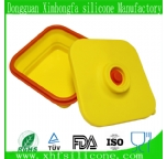 folding silicone lunch box