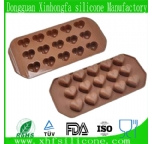 heart-shape silicone chocolate mould