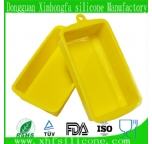 Small rectangle shape silicone cake mould
