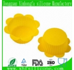 flower shaped silicone cupcake mould