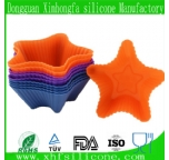 star-shape silicone tiny cake mold