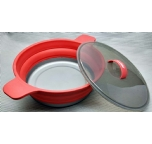 "Foldable Silicone Pan / Pot 23cm (9"")"